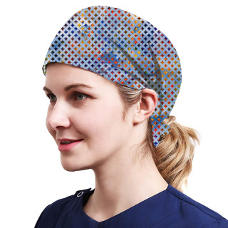 One Size Working Cap with Sweatband Adjustable Tie Back Hats Printed for Women,Print15