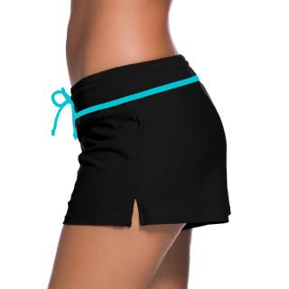 Womens Swimwear Shorts Beach Boardshort Trunks,Black/Turquoise