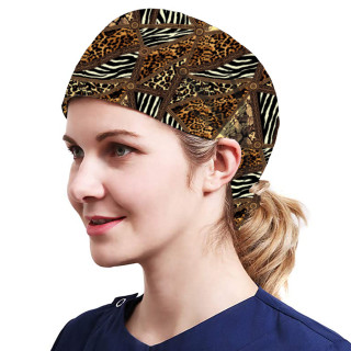 One Size Working Cap with Sweatband Adjustable Tie Back Hats Printed for Women,Print09