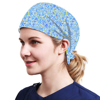 One Size Working Cap with Sweatband Adjustable Tie Back Hats Printed for Women,Print14