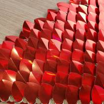 Wholesale 500pcs Holographic Red Iridescent Dragon Scale,ScaleMaille,Scale Mail Armor,Chainmaille,Mermaid Scale,Scale Maille Supplies