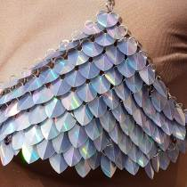 Wholesale 500pcs Holographic Iridescent Dragon Scale,ScaleMaille,Scale Mail Armor,Chainmaille,Mermaid Scale,Scale Maille Supplies
