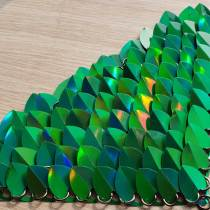 Wholesale 500pcs Holographic Green Iridescent Dragon Scale,ScaleMaille,Scale Mail Armor,Chainmaille,Mermaid Scale,Scale Maille Supplies