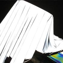 4-Way Stretch Reflective Silver Fabric,Iridescent Rainbow Fabric By the Yards