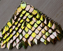 wholesale 500pcs Plastic Iridescent Dragon Scale,ScaleMaille,Scale Mail Armor,Chainmaille,Mermaid Scale,Scale Maille Supplies