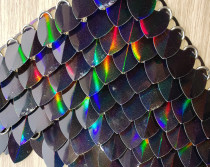 Wholesale  500pcs Large Size Holographic Black Iridescent Dragon Scale,ScaleMaille,Scale Mail Armor,Chainmaille,Mermaid Scale,Scale Maille Supplies