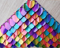 100pcs Large Hologram Rainbow Fux Leather Dragon Scale Handmade Rainbow Holographic ScaleMaille Maille Chainmaille Mermaid Scale