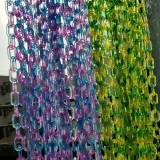 10 Feet Chunky Acrylic Ombre Chain Links, Plastic Chain Links, Necklace Chain Links, Open Link ,Size 15mmx25mm