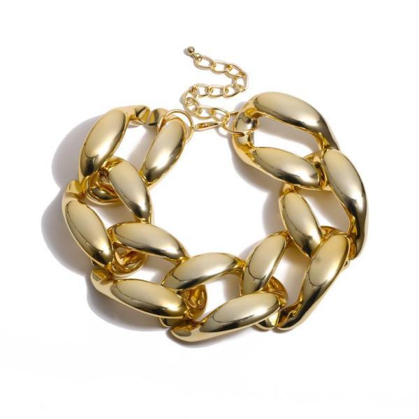 Handmade Gold Resin Chunky Chain Choker, Extra Large Curb Chain Link Choker, Oversized Link Chain Necklace, Statement Choker, Maximalist Choker