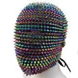 Handmade Cutom Studded Spikes Full Face Jewel Margiela Mask Full Coverage Custom Haute Couture Spiked Mask