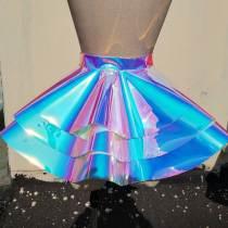Handmade Custom 3 Layer Peplum Belt Skirt,Vinyl Peplum Belt,Blue Peplum Belt,PVC Fetish Peplum Skirt Belt,Waist Cincher Peplum Belt,Plus Size Peplum Belt