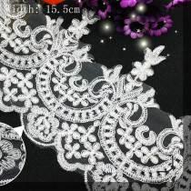 15 Yards Delicate Sewing Craft  Fabric Flower Venise Venice Wedding Lace Trim Applique
