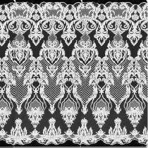 5 Yards Wedding Bridal Geometric Embroidery Lace Mesh Fabric Width 130cm