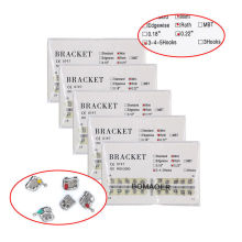 New 5 kits Dental orthodontic Mental Bracket Brace Mini Roth Slot 022 345 hooks