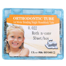 50sets/box Dental orthodontic 1st molar non-convertible roth 022 buccal tube