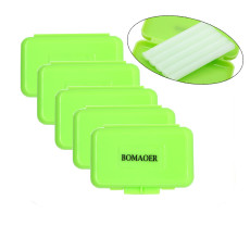 5 boxes Dental orthodontic bracket wax green color Apple scent 5pcs/box