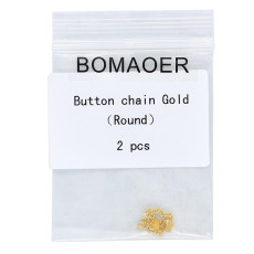 One pack Dental orthodontic Button Chain Gold round 2pcs/pack