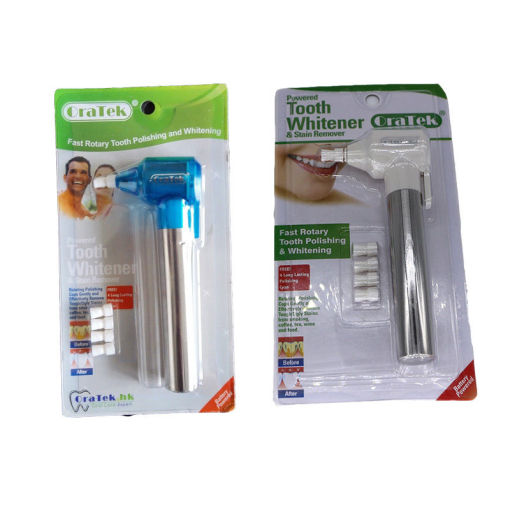 Oratek fast rotary tooth polishing and whitening & remover blue and white free