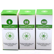 One set Dental Goldent -GRC Gingival Retraction Cord size 0&00&000