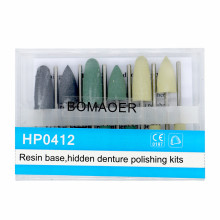 New 5 Kits Dental Diamond Burs Base Polishing Kits Hidden Denture HP0412