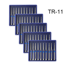 50PCS Diamond Burs TR-11 Medium FG 1.6mm for High Speed Handpiece Turbine Dental
