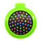 Rainbow Volume Massage Hair Brush Pocket Size Round Hair Brush Comb With Mirror green color