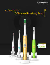 LANSUNG A39 Plus Electric Toothbrush Rechargeable Waterproof Sonic 4 Heads 220v