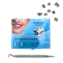 5kits ORMAER Dental orthodontic Self-ligating Brackets roth 022 345 Hooks With tool
