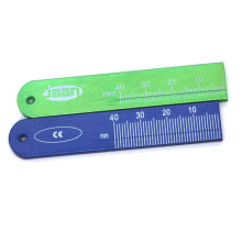 Dental buccal tube Measuring ruler Measuring Metal aluminum ruler