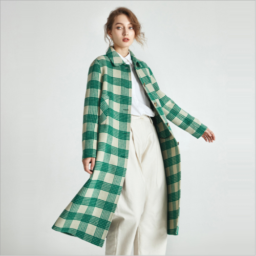 Double-faced cashmere coat