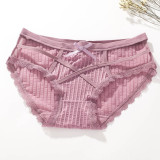 Women's 4 Colors Pack Underwear Sexy Hollow Out Panties Cute Nightwear Sleepwear Soft Lingerie Undies Perfect Gift For Girlfriend Wife