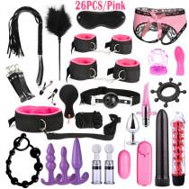 BDSM Bondage Leather Restraints Adult Sex Toys Fetish Role Play Bed Game Tool 26/23/17/15/13/10/7pcs Pack