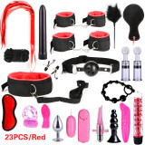 BDSM Bondage Leather Restraints Adult Sex Toys Fetish Role Play Bed Game Tool 26/23/17/15/13/10/7pcs Pack