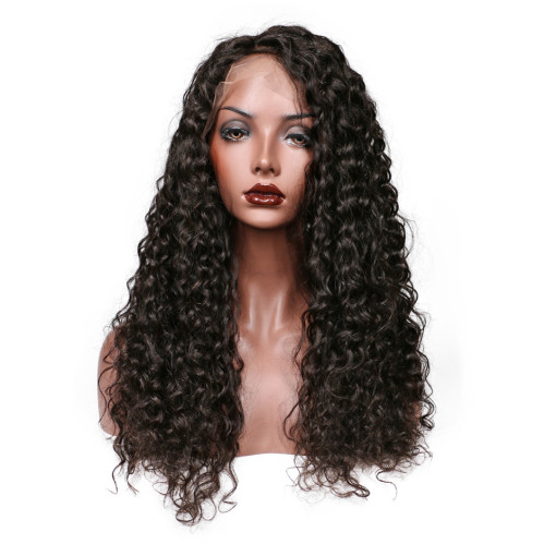 Natural Color Big Curl Brazilian Hair High Quality Lace Wigs