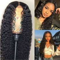 Wholesale Price Natural Color Water Wave Hair Good Quality Virgin Brazilian Hair Lace Front Wigs,360 Lace wig ,full lace wig