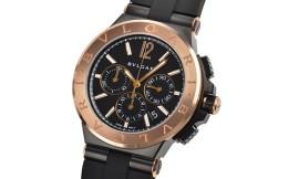 ブルガリコピー時計 ディアゴノ ウルトラネロ クロノグラフ B130自動巻きムーブメント DG42BBSPGVDCH