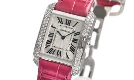 カルティエコピー時計 タンクアングレーズ MM クォーツムーブメント WT100030