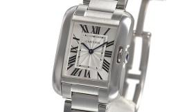 カルティエコピー時計 タンクアングレーズ MM クォーツムーブメント W5310044