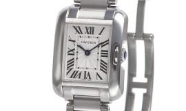 カルティエコピー時計 タンクアングレーズ SM クォーツムーブメント W5310022