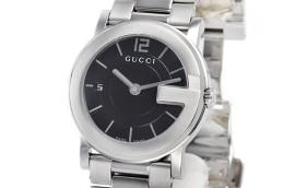 グッチ時計コピー Gラウンド ブラック文字盤 クォーツムーブメント搭載 YA101405
