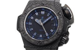 ウブロ時計コピー オーシャノグラフィック 4000 オールブラックブルー Cal.HUB1401自動巻きムーブメント搭載 28800振動 731.QX.1190.GR.ABB12
