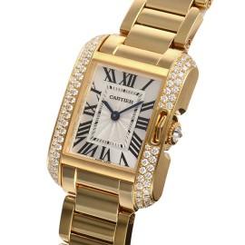 カルティエコピー時計 タンクアングレーズ SM クォーツムーブメント WT100005