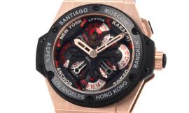 ウブロ時計コピー キングパワー ウニコ GMT キングゴールドセラミック Cal.HUB1220自動巻きムーブメント搭載 28600振動 771.OM.1170.RX
