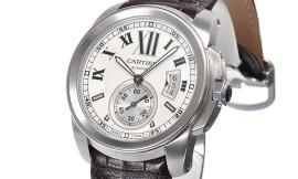 カルティエ時計コピー カリブル ドゥ 茶ストラップ Cal.1904-PS MC自動巻きムーブメント搭載 28800振動/時 W7100037