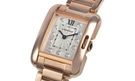 カルティエコピー時計 タンクアングレーズ SM クォーツムーブメント WJTA0004