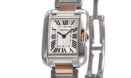 カルティエコピー時計 タンクアングレーズ SM クォーツムーブメント W5310036