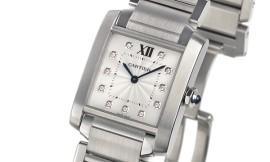 カルティエコピー時計 タンクフランセーズ MM クォーツムーブメント WE110007