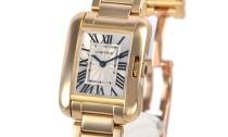 カルティエコピー時計 タンクアングレーズ SM クォーツムーブメント W5310014