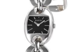 グッチ時計コピー マリナチェーン ブラック文字盤 クォーツムーブメント搭載 YA121517