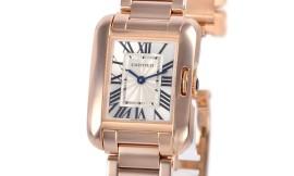 カルティエコピー時計 タンクアングレーズ SM クォーツムーブメント W5310013